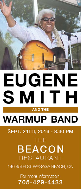 Eugene Smith and the Warm-up Band - September 24, 2016 - The Beacon @ Wasaga Beach